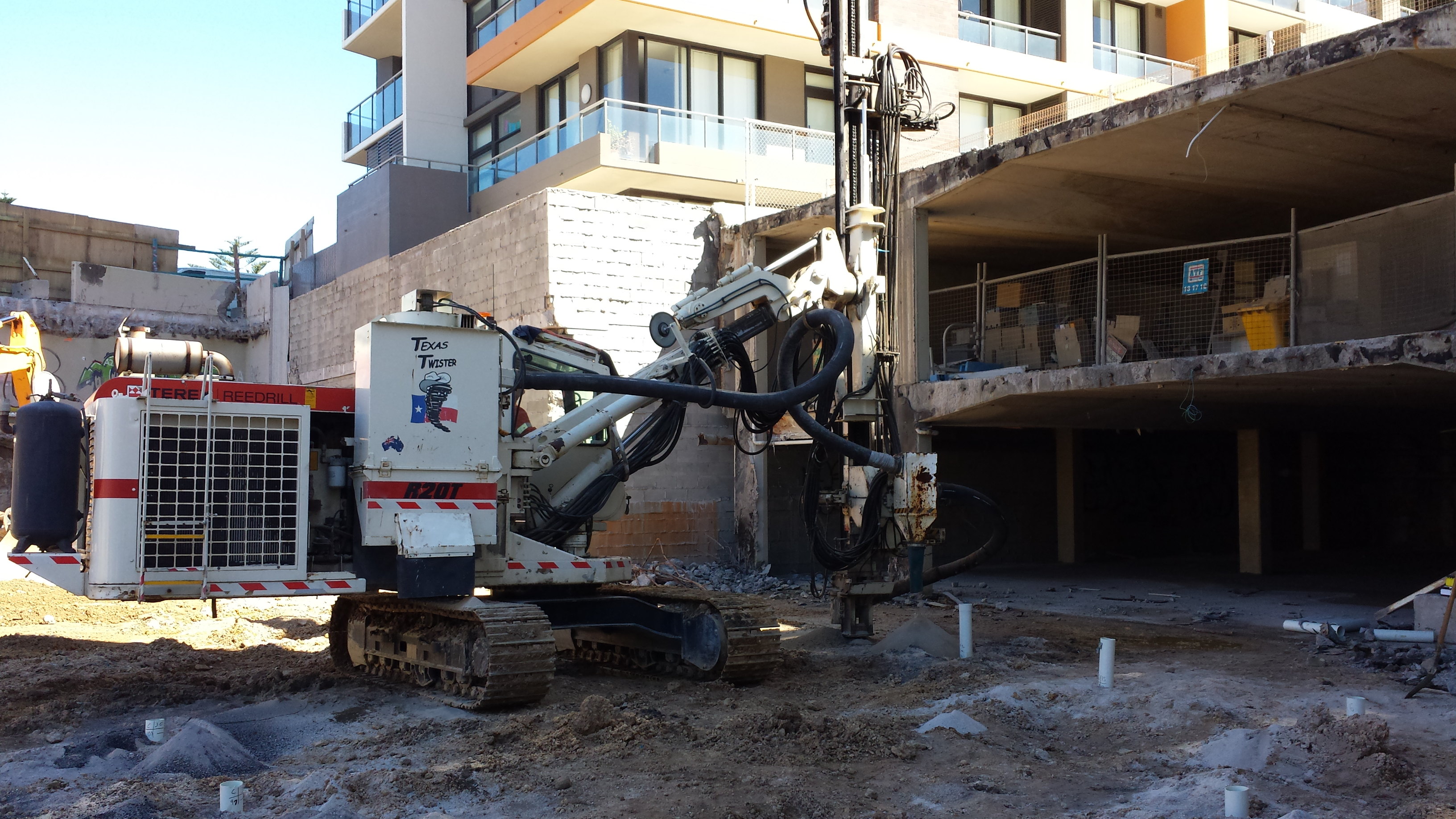 Site construction, Arena Apartments, Newcastle, NSW