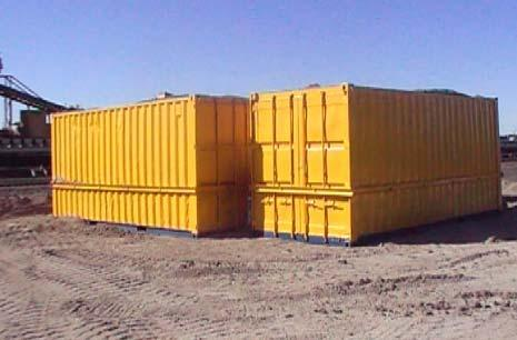 Containers on top of trial pad​.