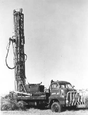 One of Douglas Partners' old drilling riggs