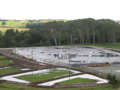 Vacuum consolidation (membrane system) in progress at Ballina (NSW)