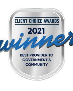 Client Choice Awards - 2021 Winner for Best Provider to Government & Community