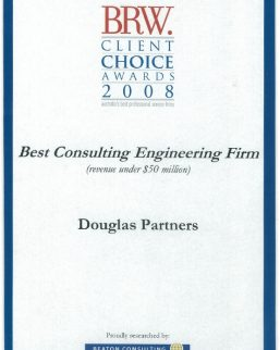 2017 BRW Client Choice Awards - Best Consulting Engineering Firm (Less than $50M)