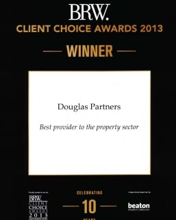 2013 BRW Client Choice Awards - Best Provider to Property