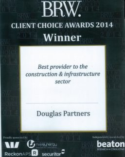 2014 BRW Client Choice Awards - Best Provider to Construction & Infrastructure Sector