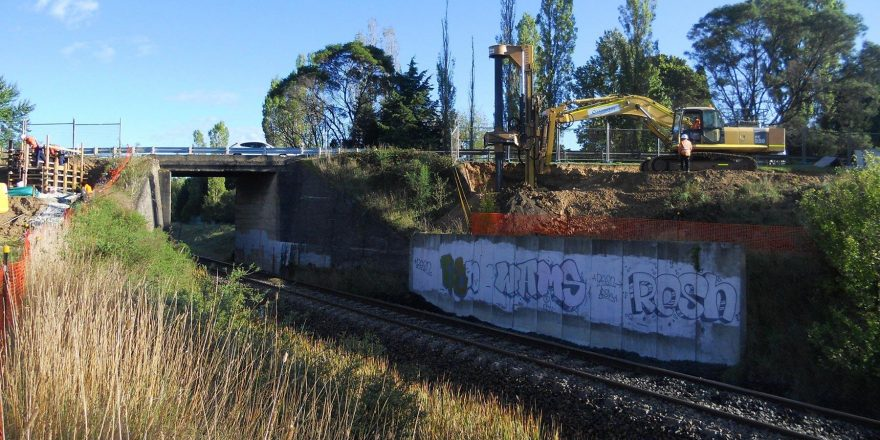 Drilling at the Moss Vale Railway Shared Bridge