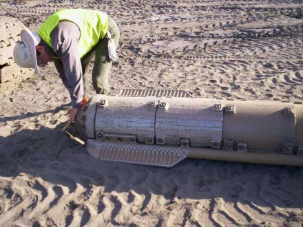 Installation of Stone Columns and Close-up of Vibro-Replacement Probe