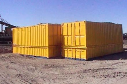 Containers on top of trial pad.